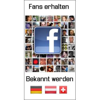 2000 Facebook Abonnenten aus D/A/CH mit Wunschgeschwindigkeit