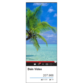 200 Youtube Likes (Daumen Hoch) für Ihr Video in Youtube