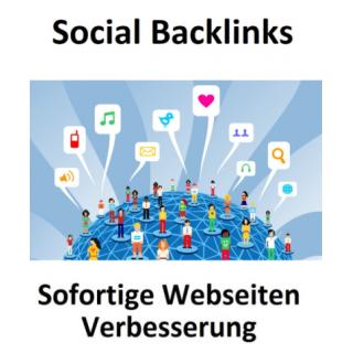 50 Social Backlinks - Sofortiger positiver Effekt für Ihre Webseite